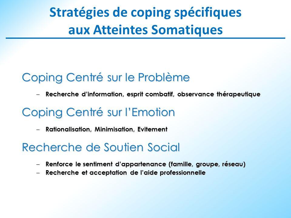 Stratégies de coping spécifiques aux Atteintes Somatiques