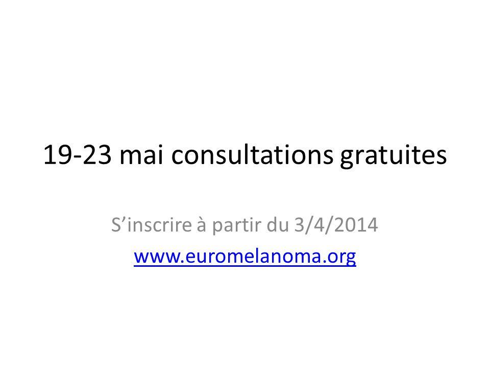 19-23 mai consultations gratuites