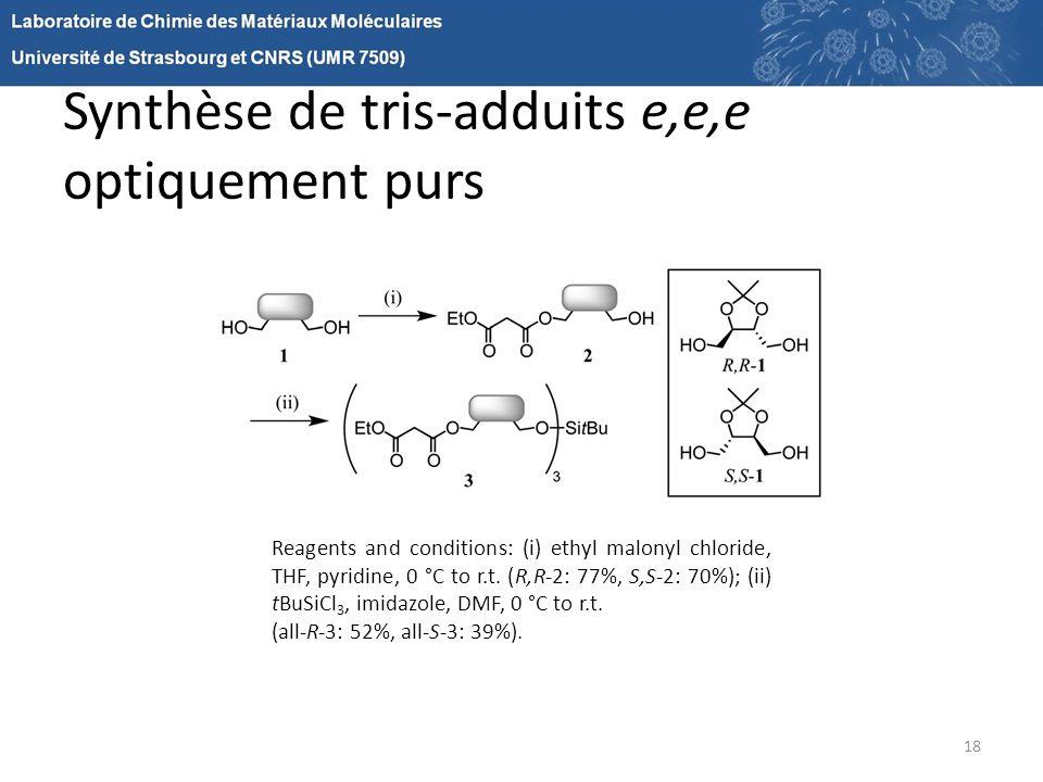Synthèse de tris-adduits e,e,e optiquement purs