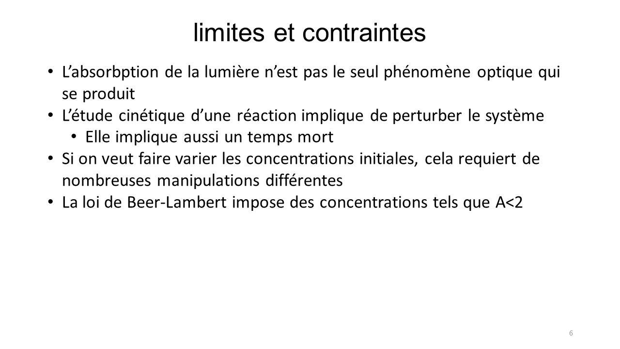 limites et contraintes