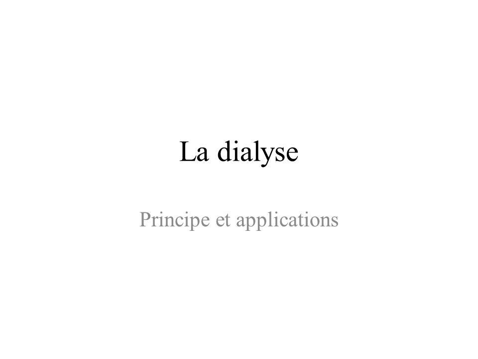 Principe et applications