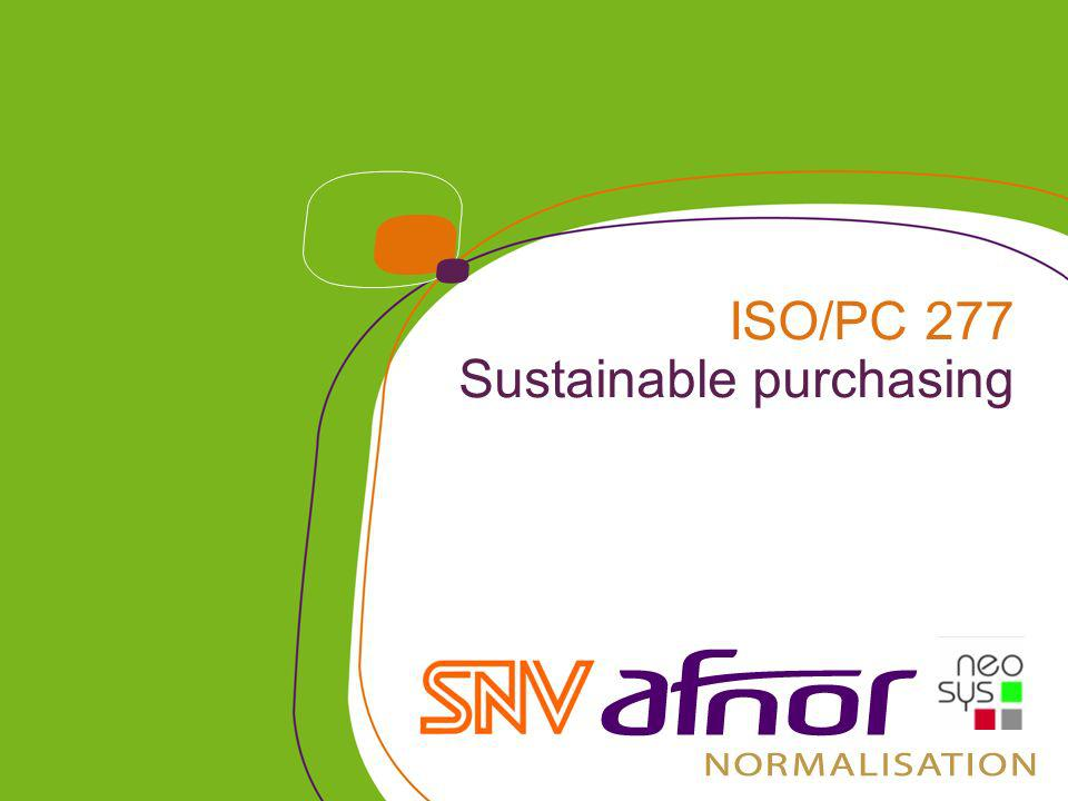 ISO/PC 277 Sustainable purchasing