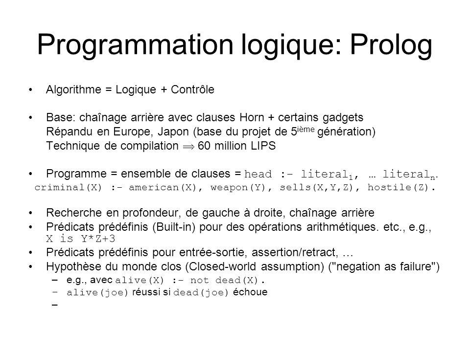 Programmation logique: Prolog