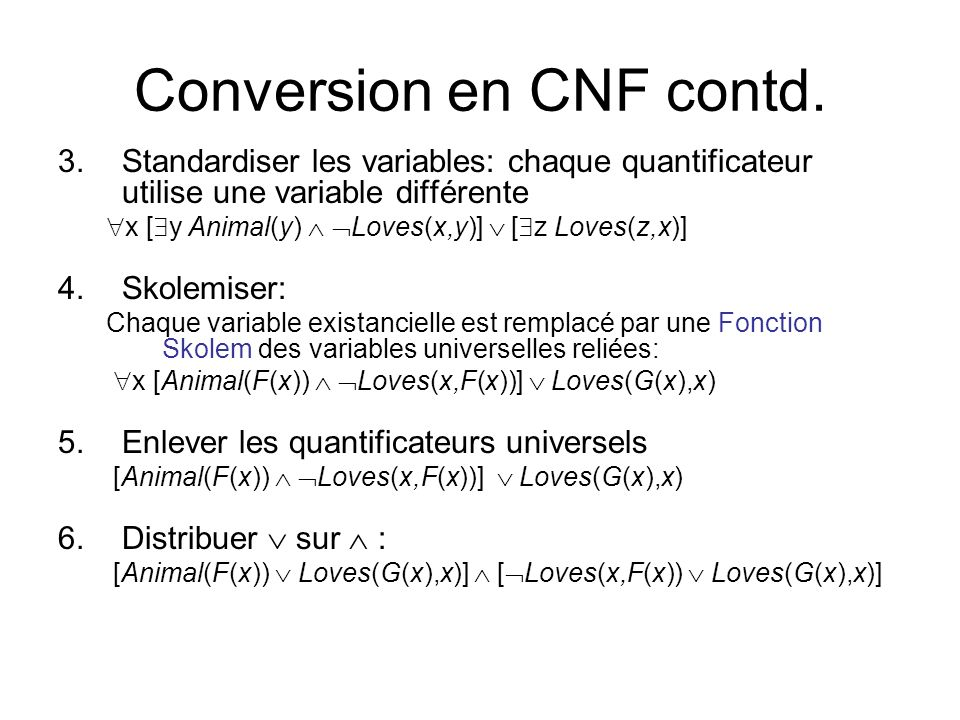 Conversion en CNF contd.