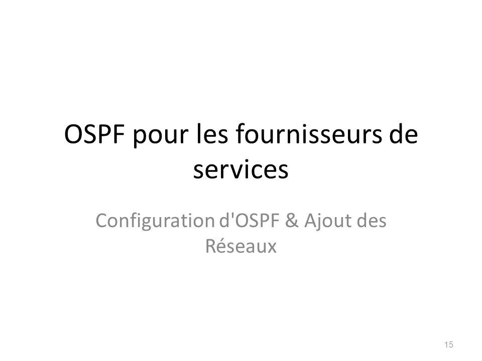 OSPF pour les fournisseurs de services