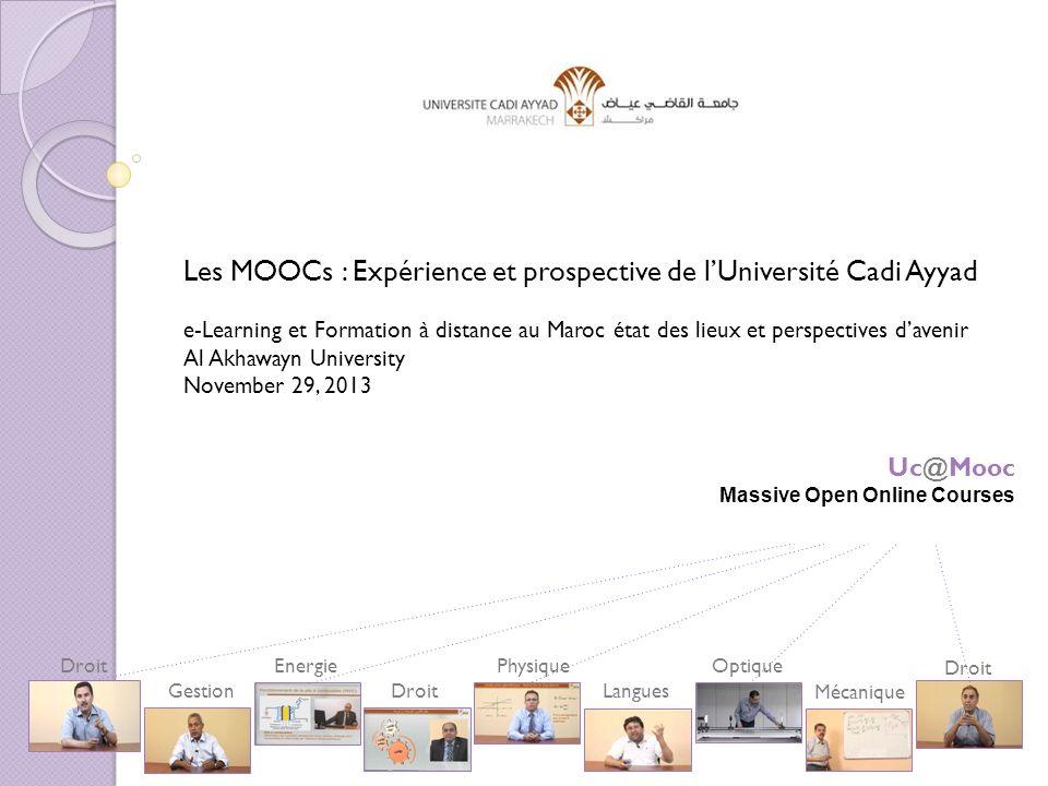 Les MOOCs : Expérience et prospective de l'Université Cadi Ayyad
