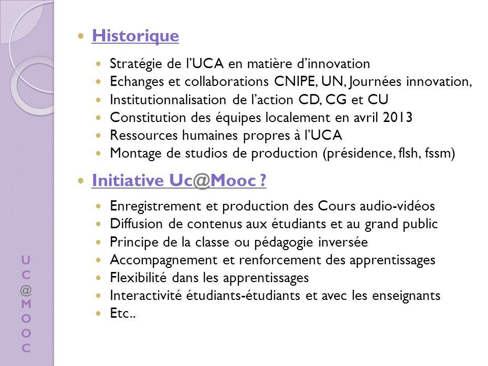 Historique Initiative Uc@Mooc