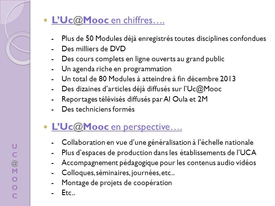 L'Uc@Mooc en chiffres….