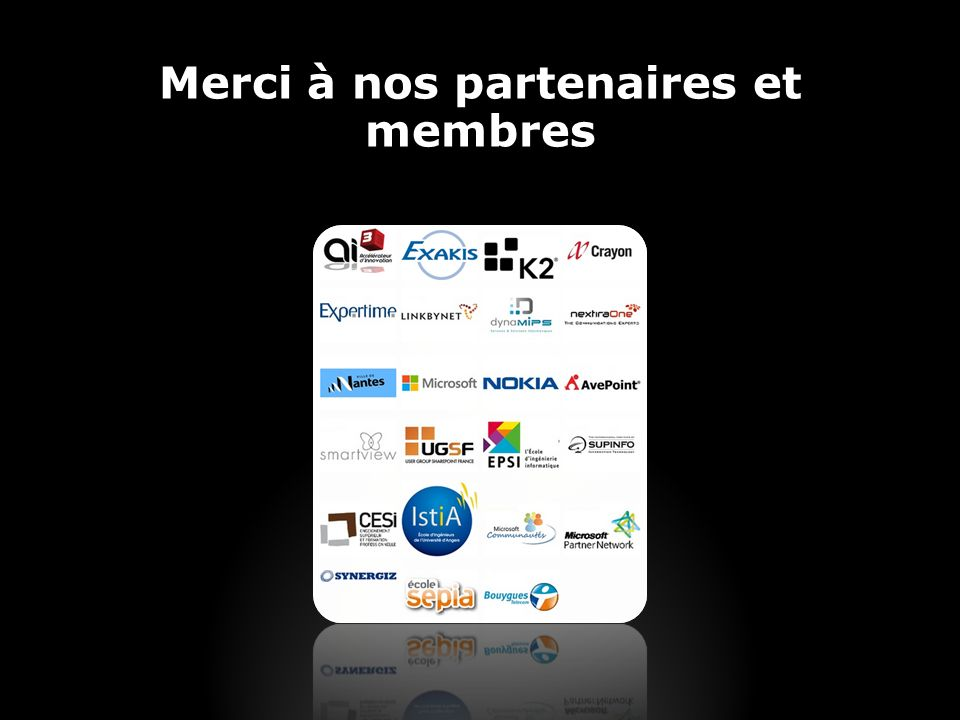 Merci à nos partenaires et membres