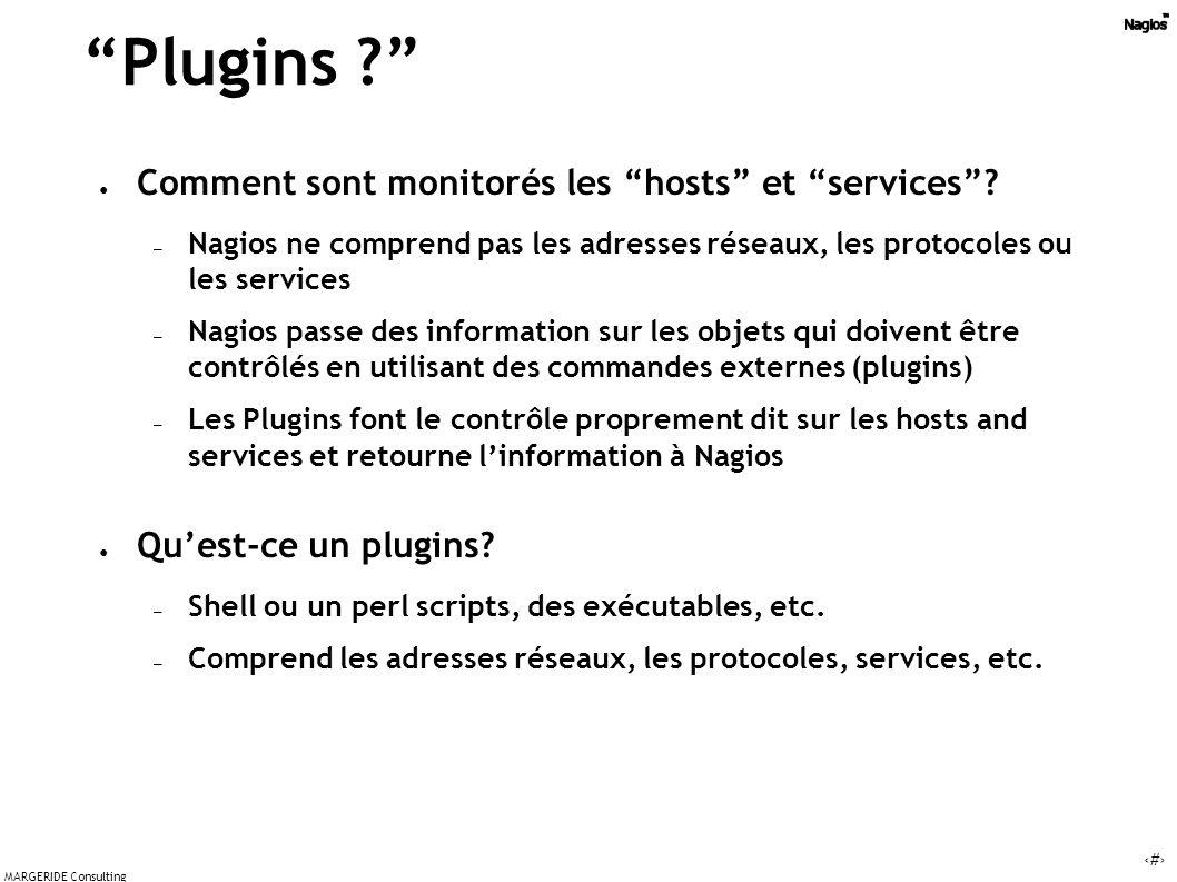 Plugins Comment sont monitorés les hosts et services