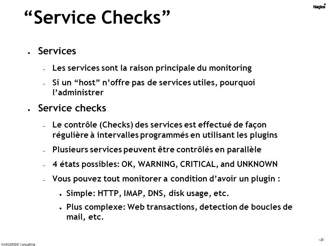 Service Checks Services Service checks