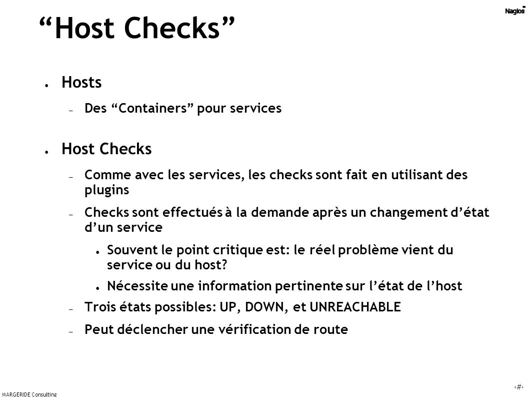 Host Checks Hosts Host Checks Des Containers pour services