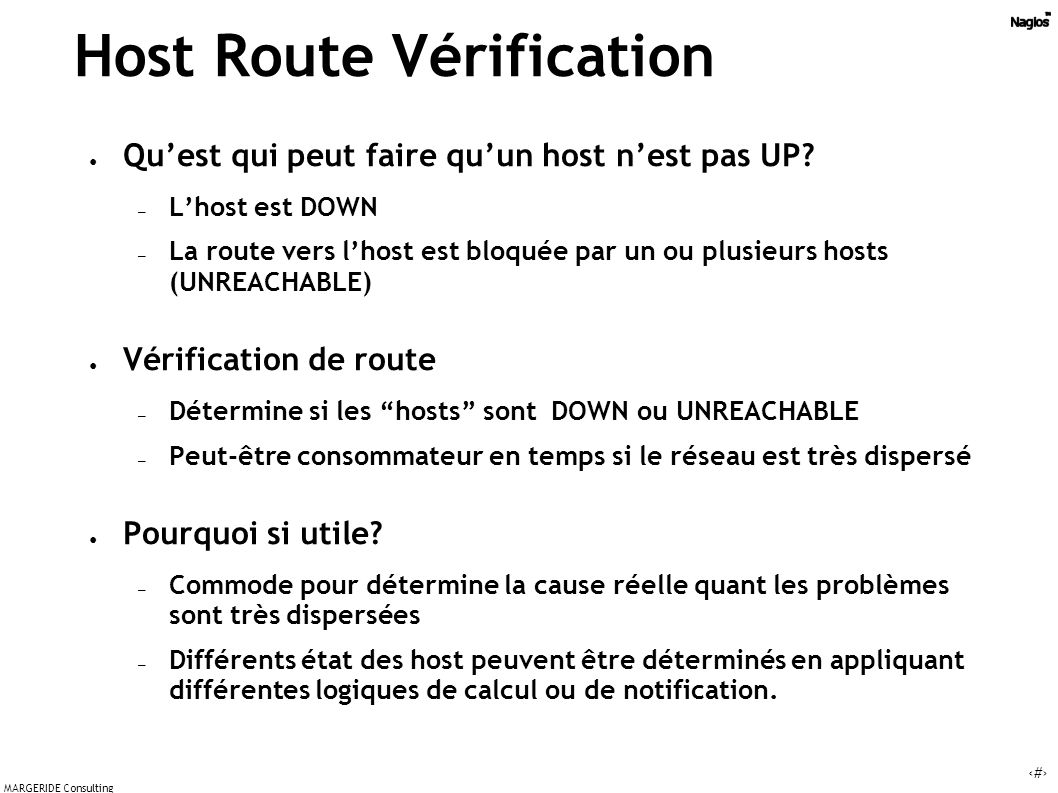 Host Route Vérification