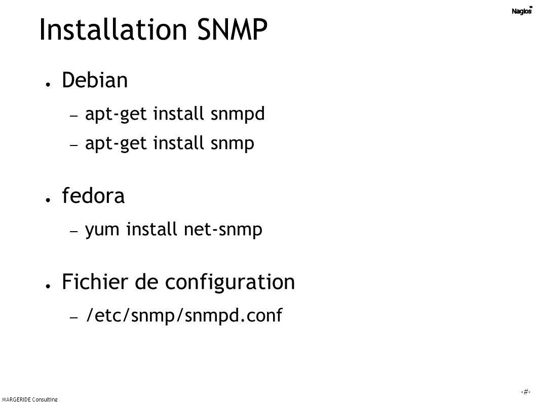 Installation SNMP Debian fedora Fichier de configuration