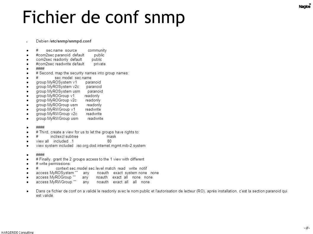Fichier de conf snmp Debien /etc/snmp/snmpd.conf