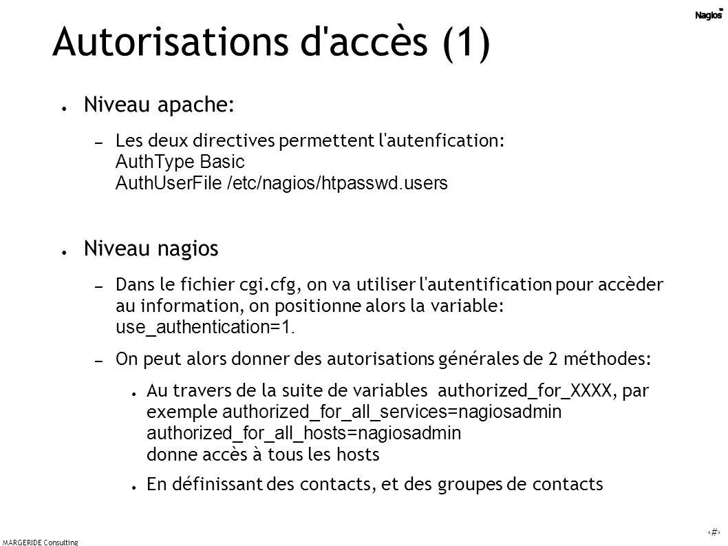 Autorisations d accès (1)