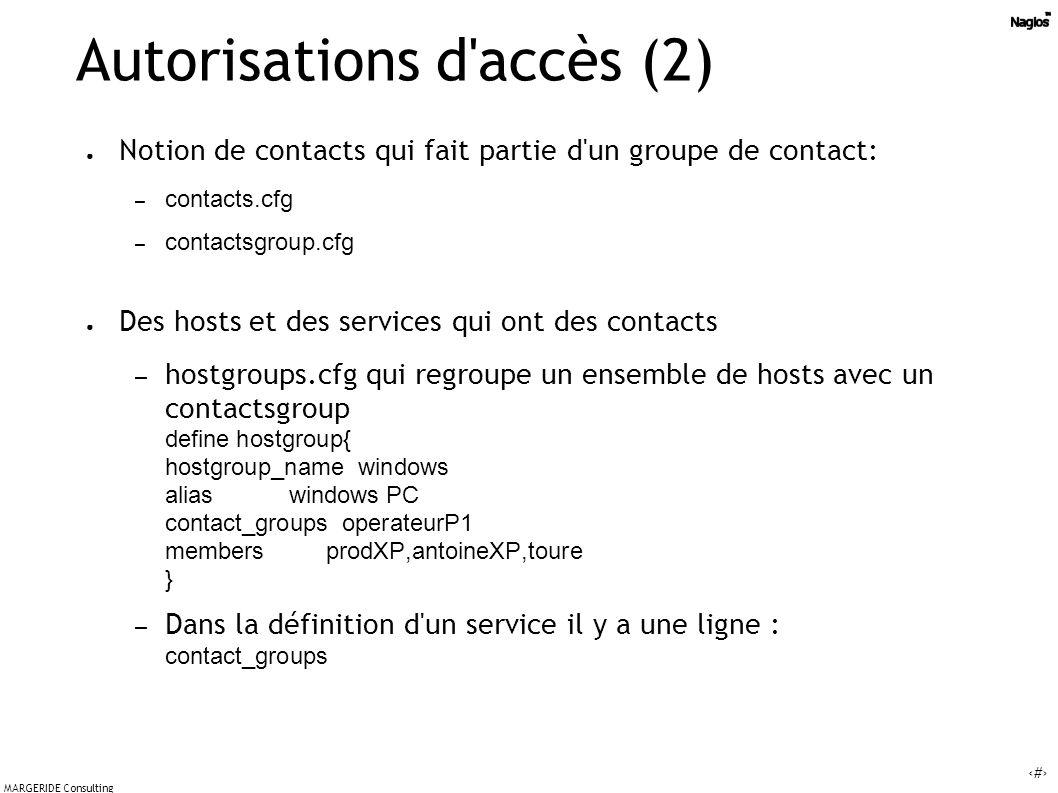 Autorisations d accès (2)