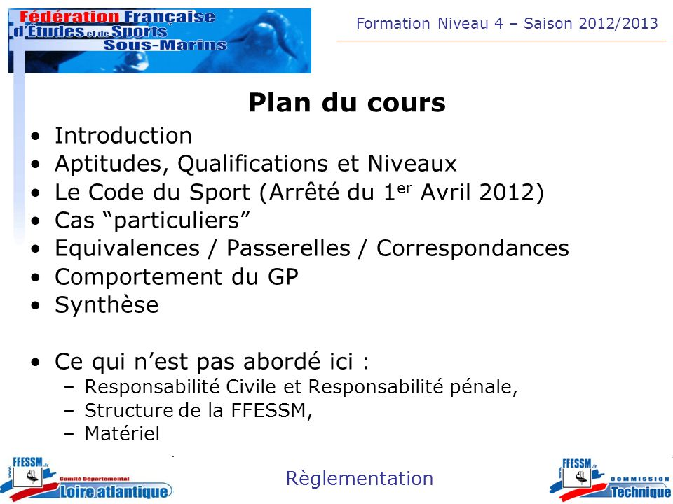 Plan du cours Introduction Aptitudes, Qualifications et Niveaux