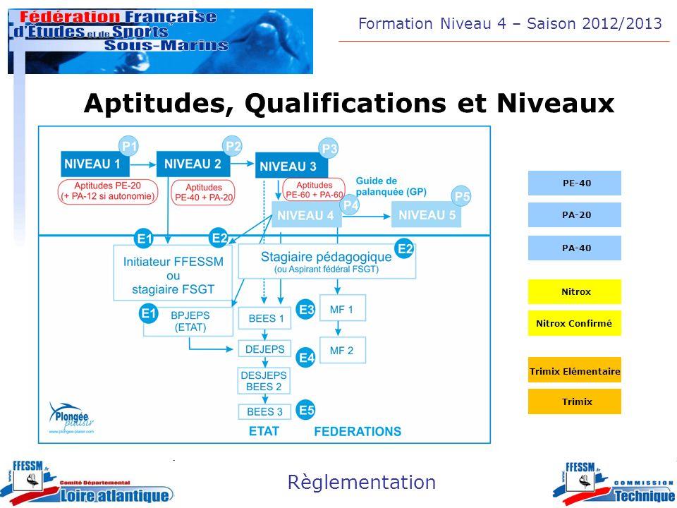 Aptitudes, Qualifications et Niveaux
