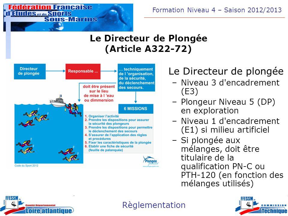 Le Directeur de Plongée (Article A322-72)