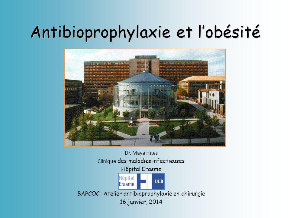 Antibioprophylaxie et l'obésité