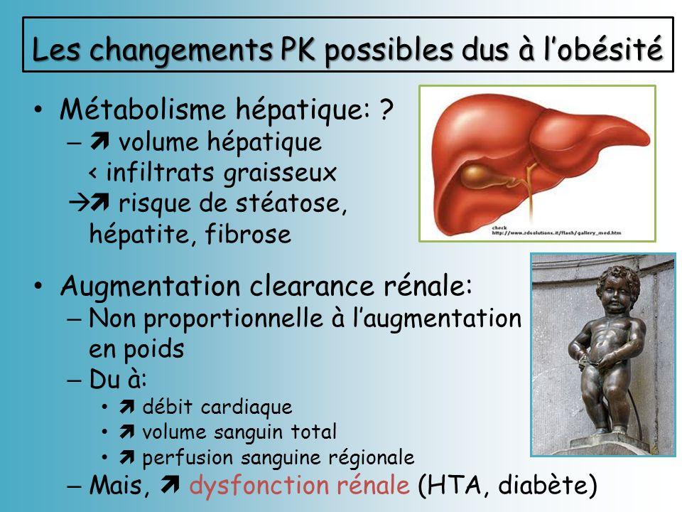 Les changements PK possibles dus à l'obésité