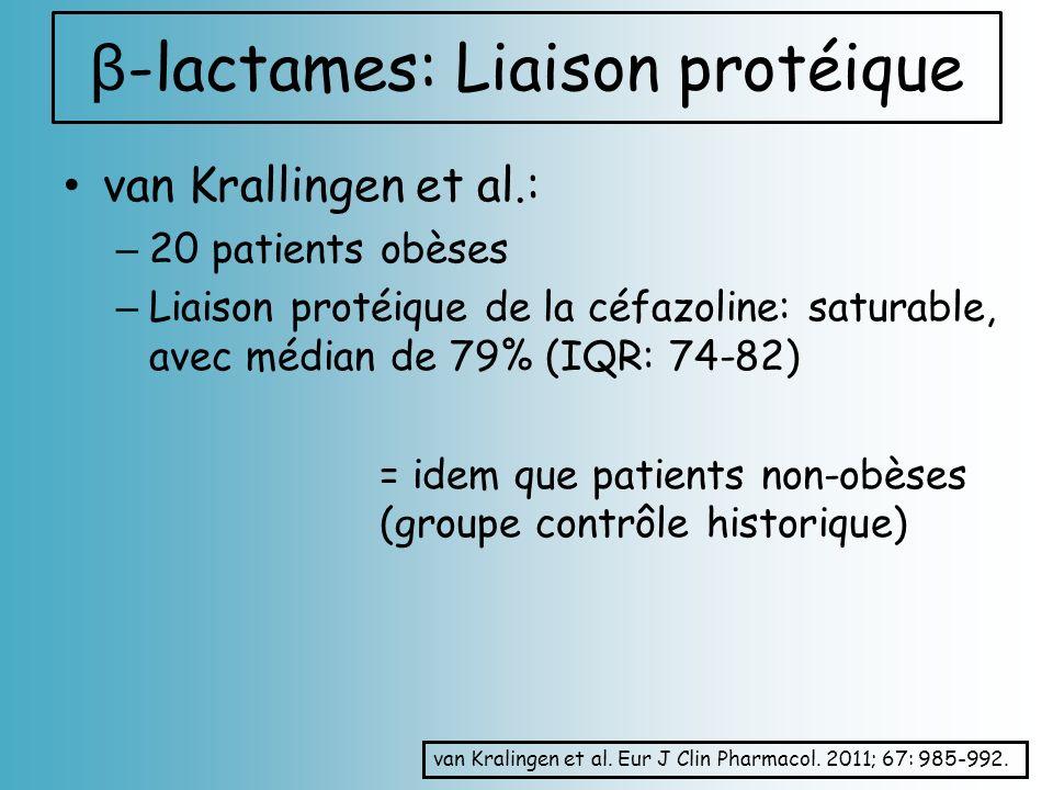 β-lactames: Liaison protéique