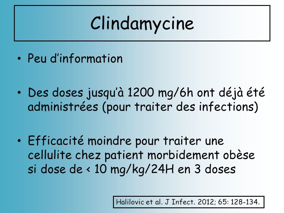 Clindamycine Peu d'information