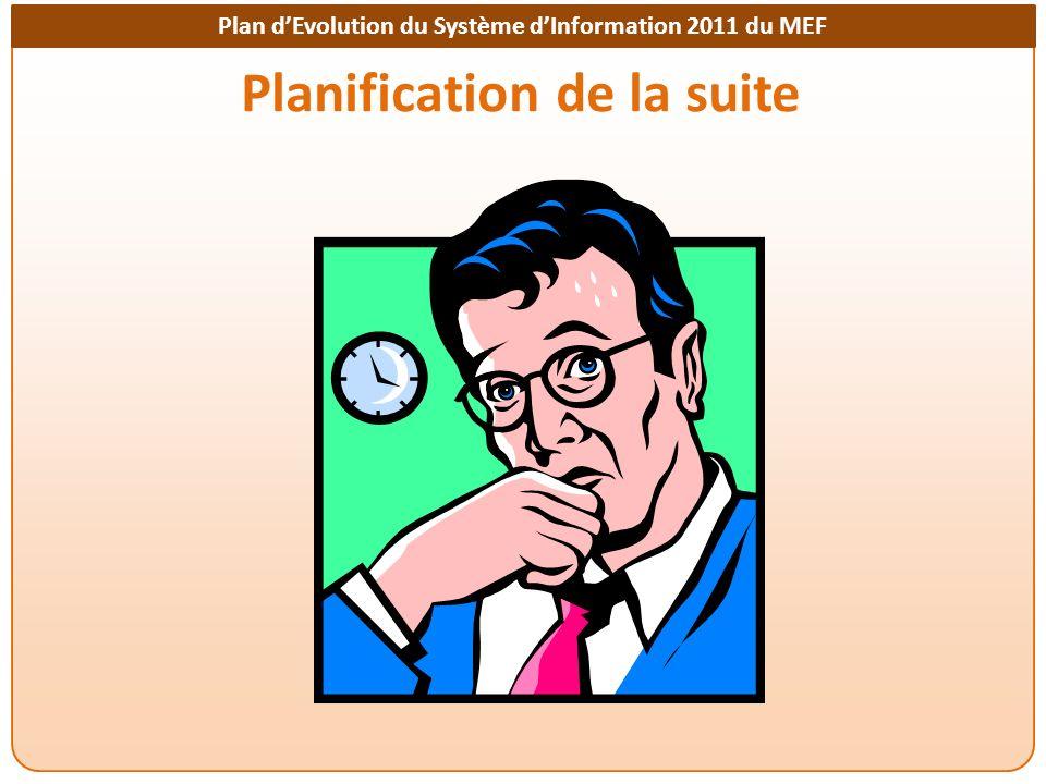 Planification de la suite