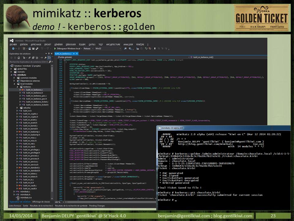 mimikatz :: kerberos demo ! - kerberos::golden