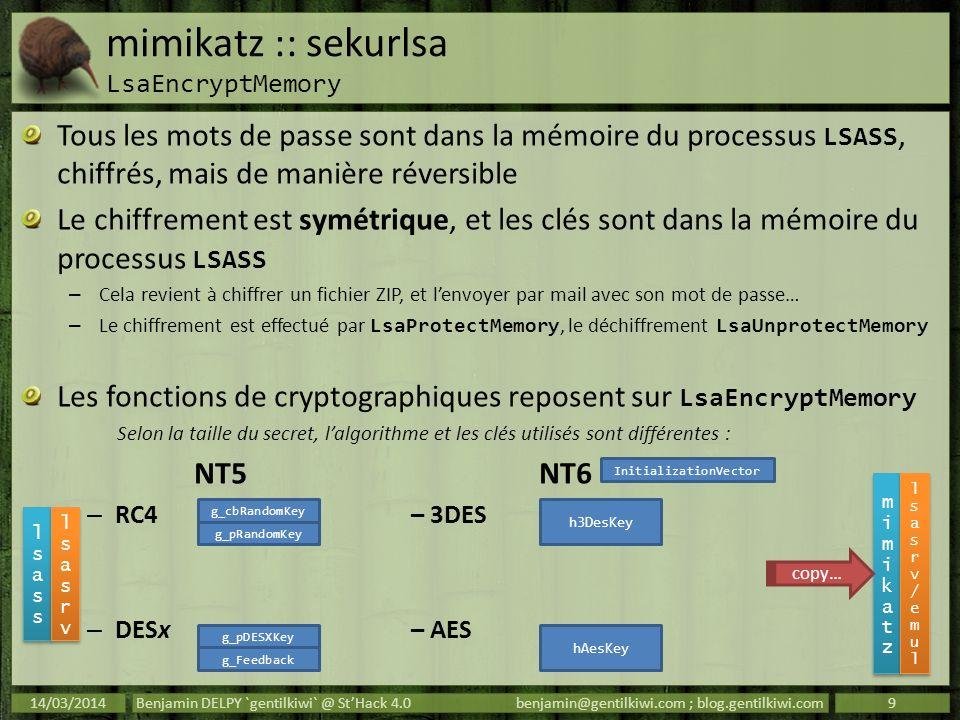 mimikatz :: sekurlsa LsaEncryptMemory