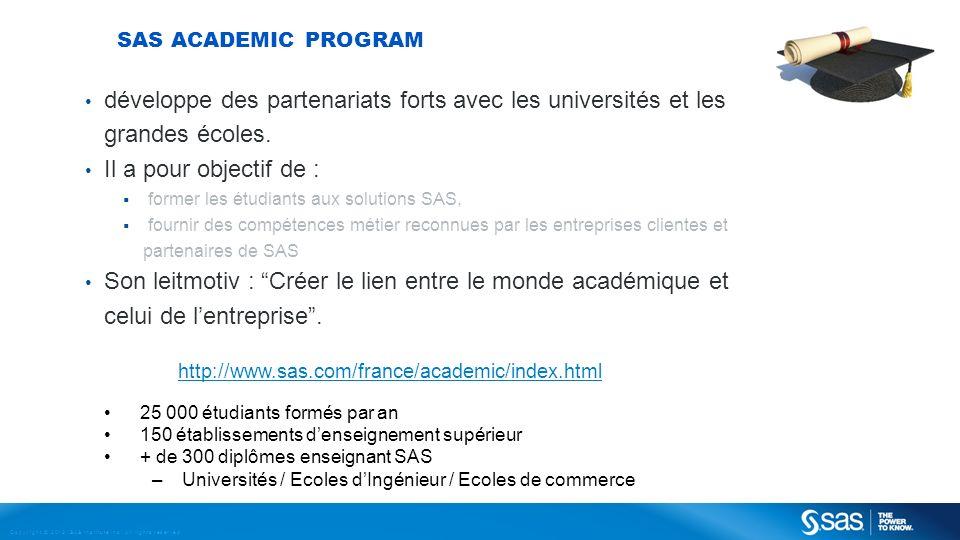 SAS Academic Program développe des partenariats forts avec les universités et les grandes écoles. Il a pour objectif de :