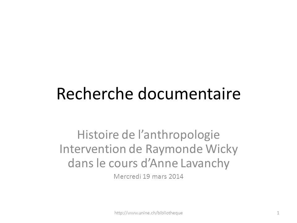 Recherche documentaire