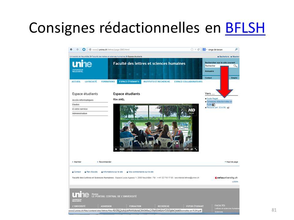 Consignes rédactionnelles en BFLSH