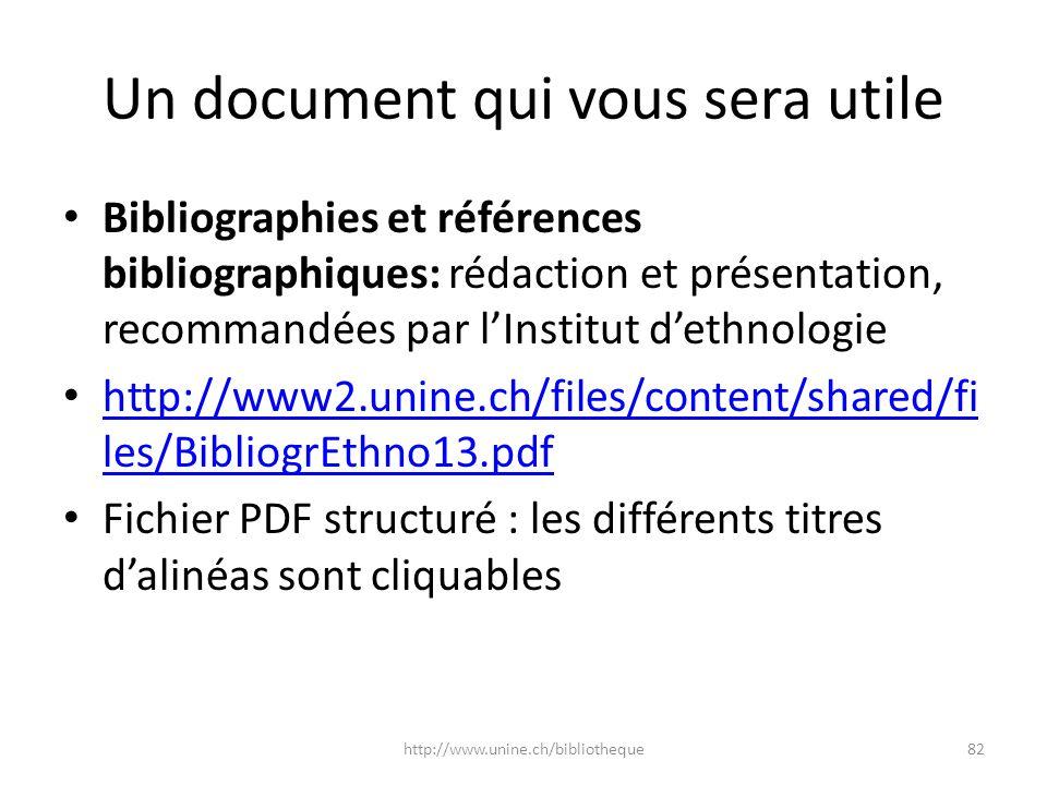 Un document qui vous sera utile
