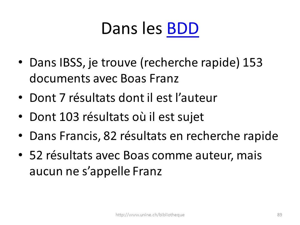Dans les BDD Dans IBSS, je trouve (recherche rapide) 153 documents avec Boas Franz. Dont 7 résultats dont il est l'auteur.