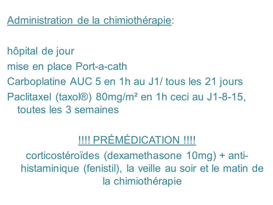 Administration de la chimiothérapie: