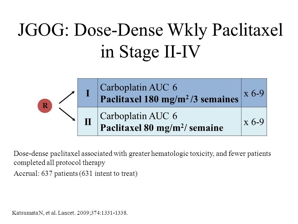 JGOG: Dose-Dense Wkly Paclitaxel in Stage II-IV