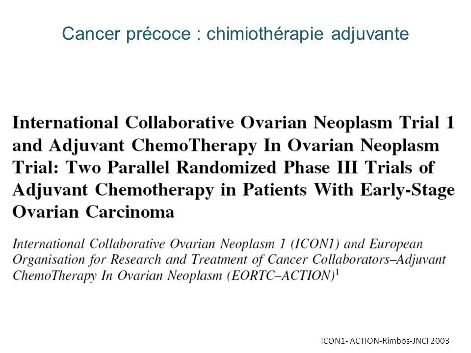 Cancer précoce : chimiothérapie adjuvante
