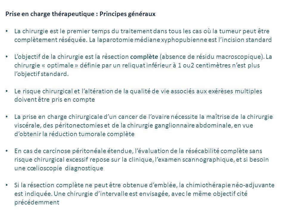 Prise en charge thérapeutique : Principes généraux