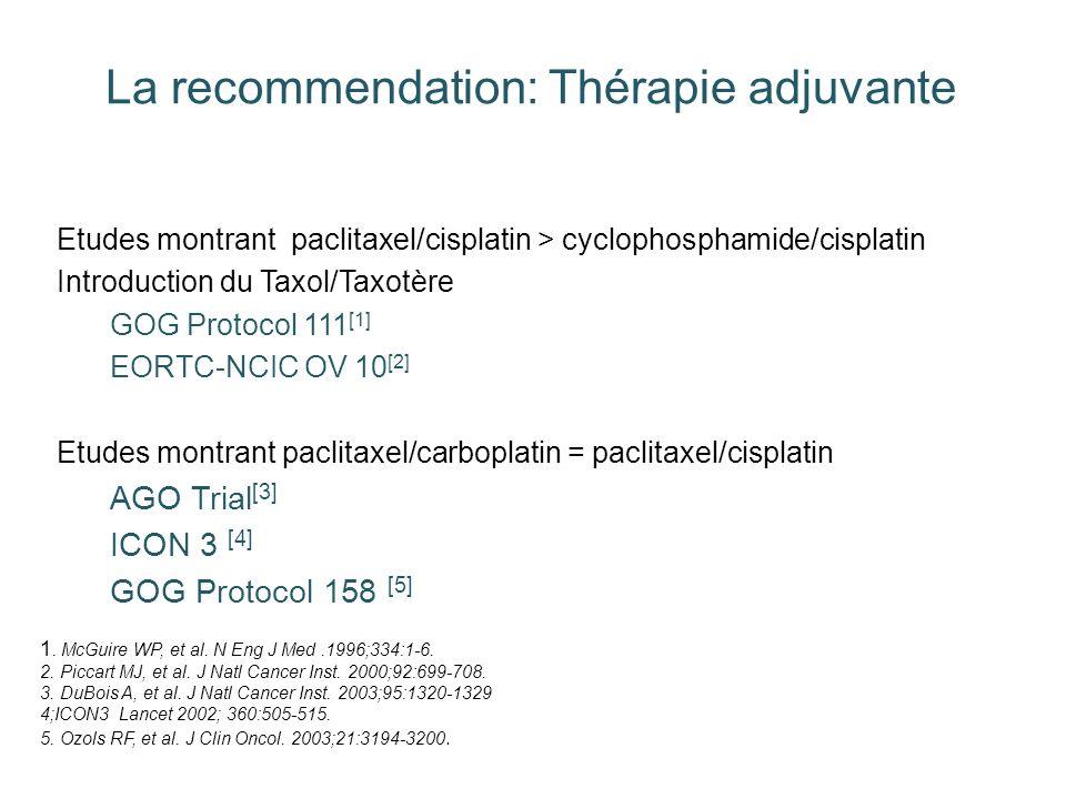 La recommendation: Thérapie adjuvante