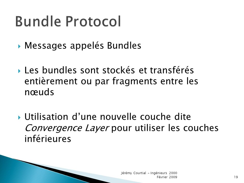 Bundle Protocol Messages appelés Bundles