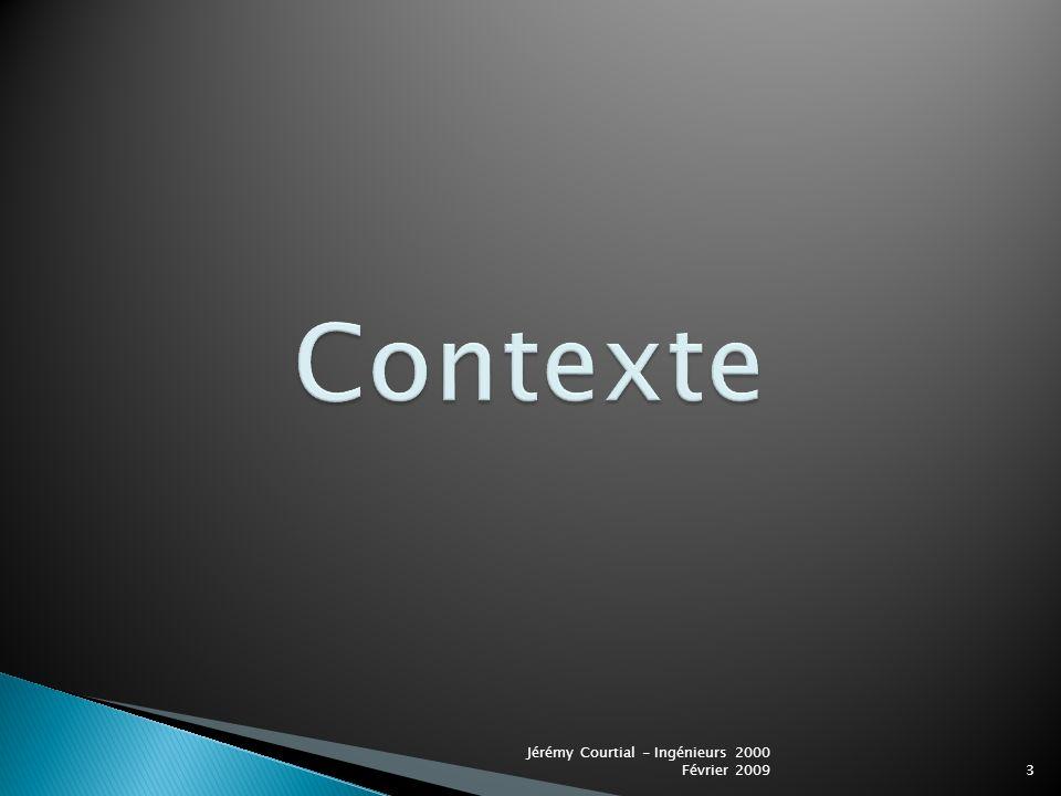Contexte Jérémy Courtial - Ingénieurs 2000 Février 2009
