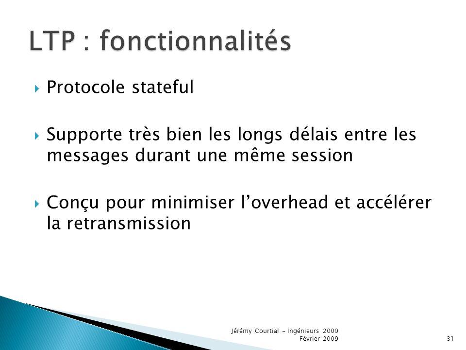 LTP : fonctionnalités Protocole stateful