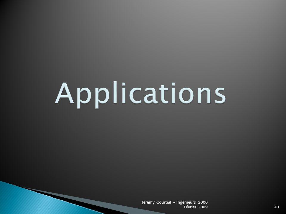 Applications Jérémy Courtial - Ingénieurs 2000 Février 2009