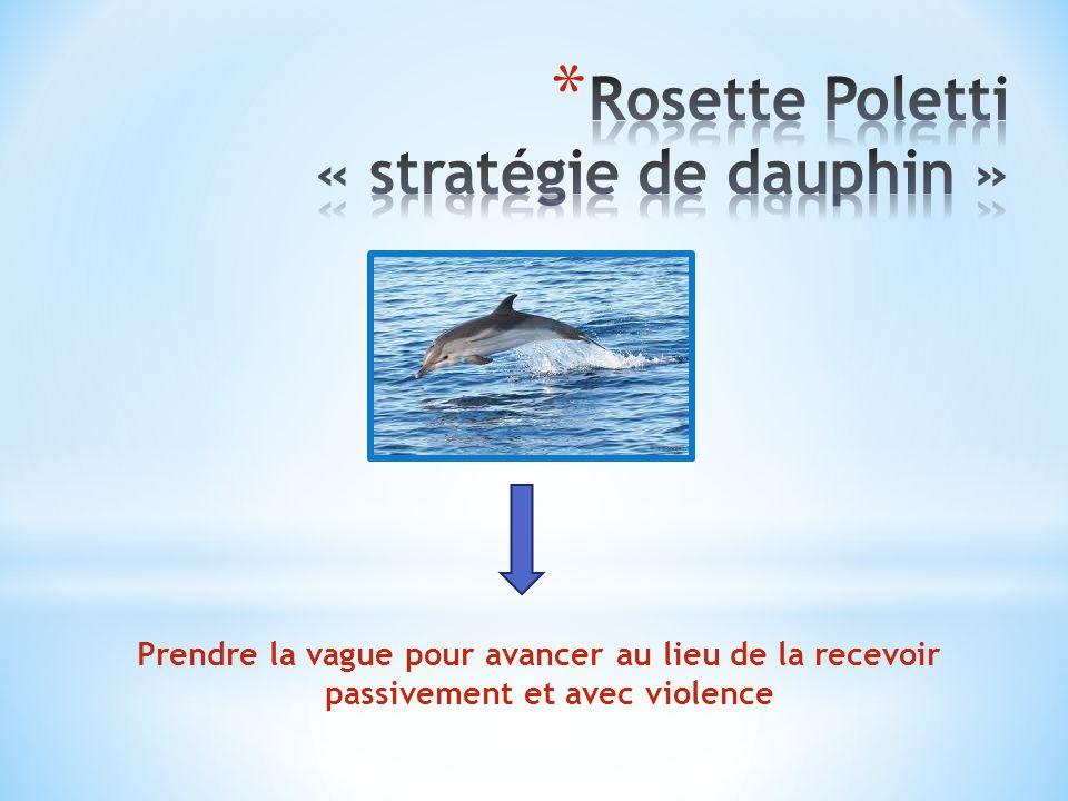 Rosette Poletti « stratégie de dauphin »