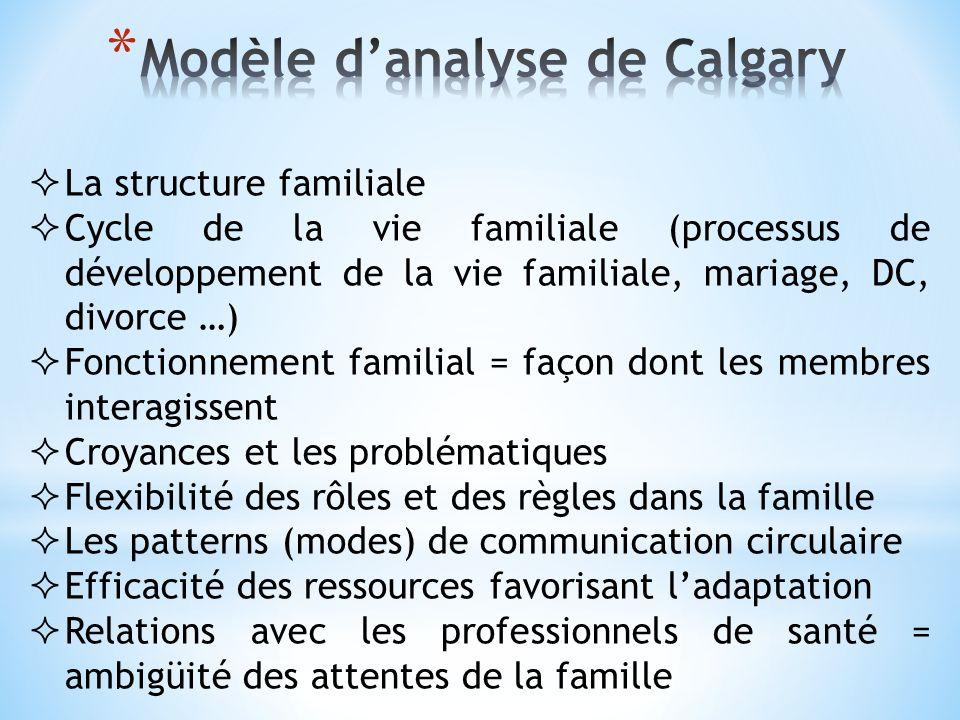 Modèle d'analyse de Calgary
