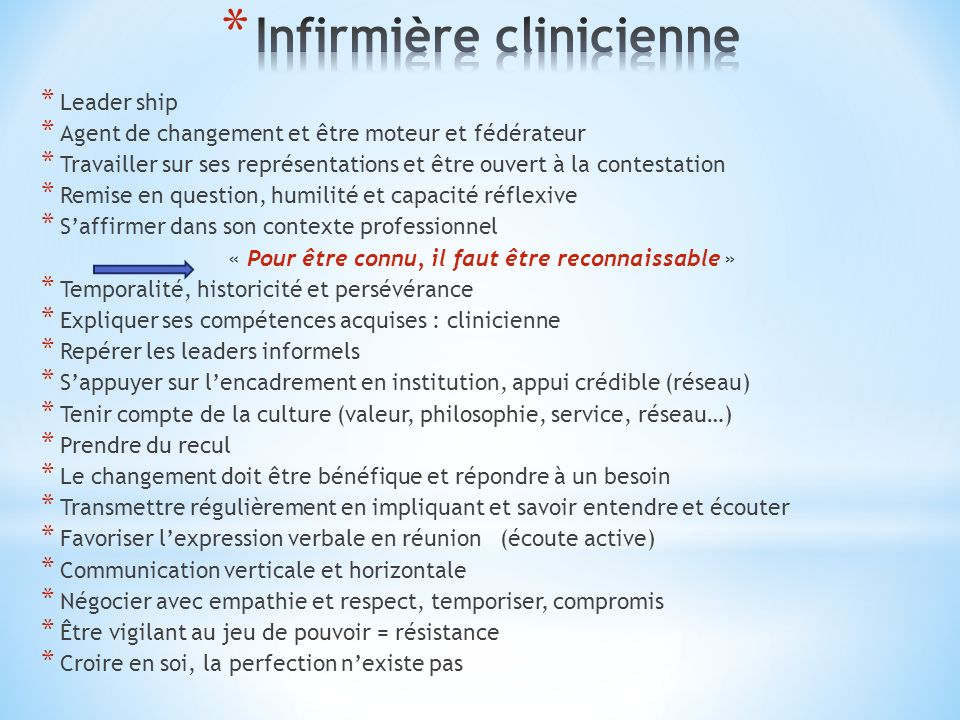 Infirmière clinicienne