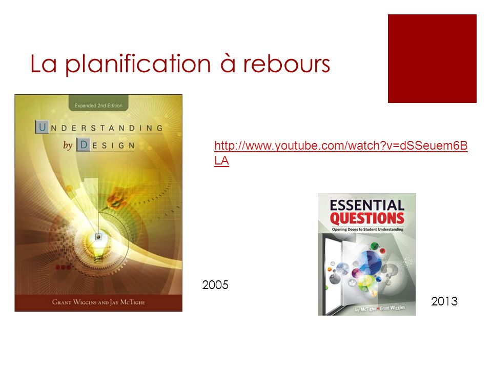 La planification à rebours