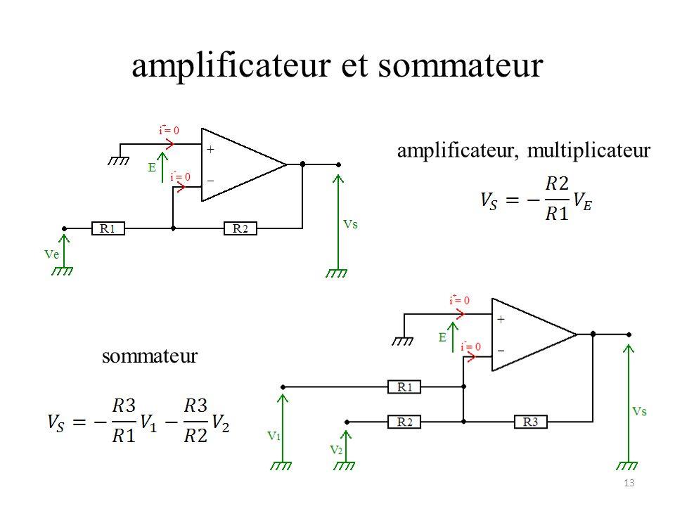 amplificateur et sommateur